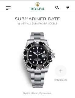 #SBUX50 Brand New ROLEX Submariner Date Black 40mm
