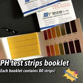 80 ph test strips for 1 - 14 ph acidic neutral alkaline range water tester