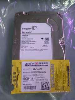 行貨 1T 硬碟 Hard disk Seagate 薄身 單碟