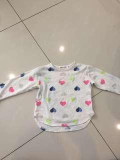 H&M love sweater thin