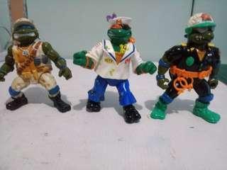 (RARE) Playmates TMNT 3 Pack 1990s