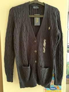 POLO RL 中長款寶藍色冷外套