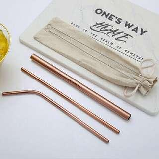 6 set  Stainless steel straw