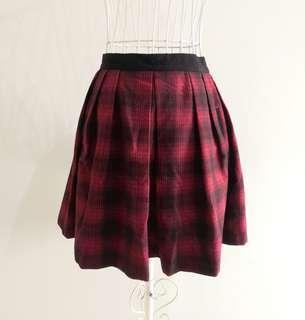 🚚 Topshop Tartan Pleated Skirt