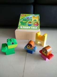 Preloved lego duplp read & build Fairy Tale set