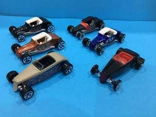 HotWheels 1:64 - bundle 8 cars set all '32 Ford