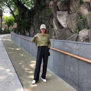 🚚 韓版 落地西褲 西裝褲 顯腿長‼️