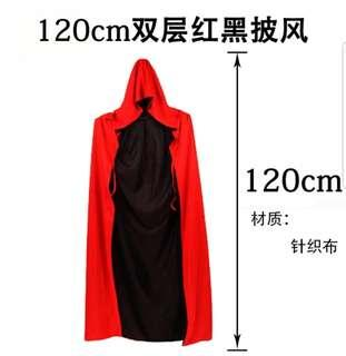 2 sided halloween robe / black and red