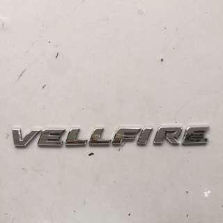Toyota VELLFIRE Emblem