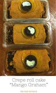 Mango Graham Cake (Crepe Style)