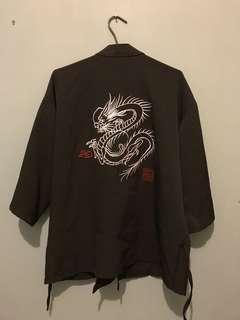 刺繡暗黑和服罩衫