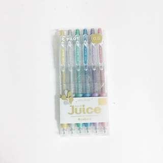 pilot juice 0.5 pens metallic pack of 6