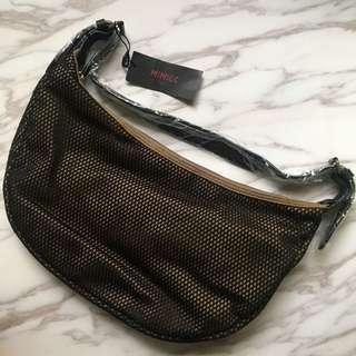 NEW handbag with leather strip