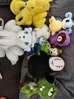 神奇寶貝 迪士尼 無臉男 熊大等等娃娃出售