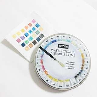 pebeo watercolors 24pc half pan set