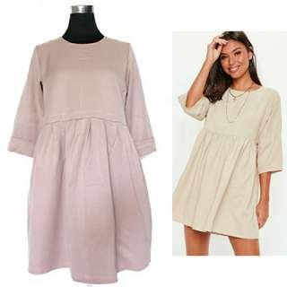Light khaki smock dress