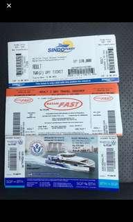 Batam Ferry Tickets and Etickets