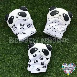 Baby Panda teether Mitten