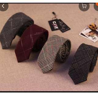 羊毛幼身領帶, 多款多色, 總有一款適合你