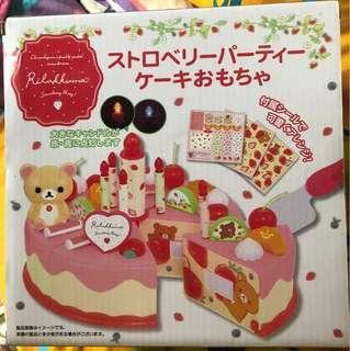 鬆弛熊生日蛋糕玩具
