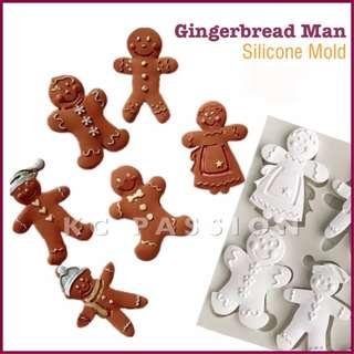 ☃️ GINGERBREAD MAN • SNOWMAN SILICONE MOLD Decorating Tool for Pastry • Chocolate • Fondant • Gum Paste • Candy Melts • Jelly • Gummies • Agar Agar • Ice • Resin • Polymer Clay Craft Art • Candle Wax • Soap Mold • Chalk • Crayon Mould •