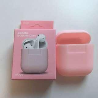 AirPod pink silicon casing