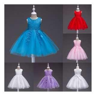 【PreOrder】Sweet Kids Baby Girl Tutu Party Wedding Flower Princess Dress