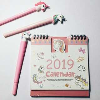 UNICORN DESK CALENDAR