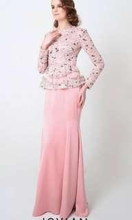 Jovian dress in dusty pink