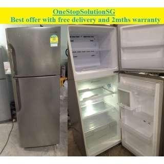 Samsung (304L), 2doors  refrigerator / fridge ($260 + frree delivery and 2mths warranty)