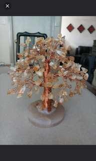 黃水晶樹    citrine tree 6.5 x 6.5 吋(wong tai sin)