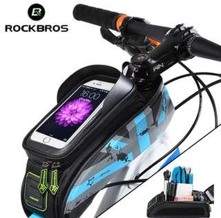 🚚 RockBros Bicycle Pouch with Phone Holder