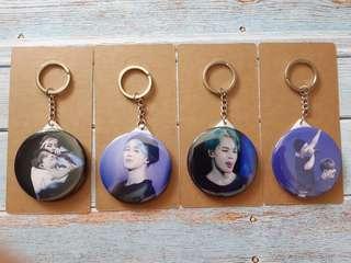 BTS 鎖匙扣化妝鏡 包郵 58mm (每個)