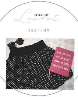 Polka dots stretchable skirt #everything18