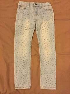 🚚 雙胞胎女童合身牛仔褲仔褲120cm兩件