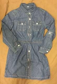 🚚 雙胞胎Lativ長版縮腰上衣120cm二件