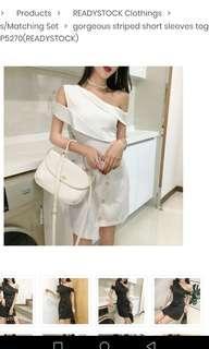 Singxfashion white dress