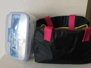Microwave Lunch Box with spoon and chopsticks