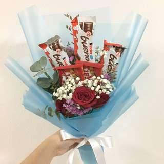 Chocolate with Red Rose Bouquet
