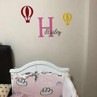 Customised nursery/kids room wall decal