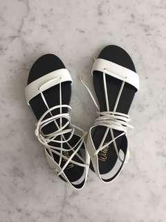 WITTNER black and white wrap sandal