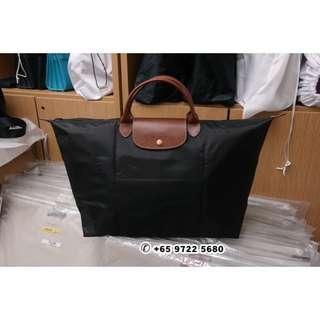369d9232a0cd SGD 150 Longchamp Le Pliage Travel Large Black 1624 089 001