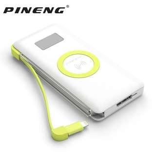 Pineng PN-888 Power Bank Tanpa Kabel 10,000 mAh + QC 3.0