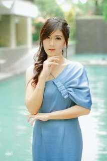 DRESS bridesmaid S.M.L Blue