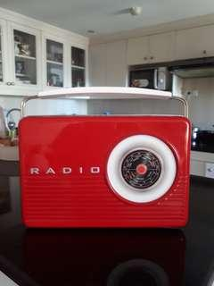 Radio tin lunch box for sale from England