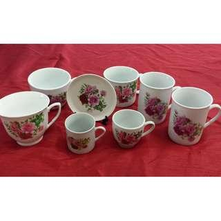 Collectable English Floral Rose cup #SBUX50