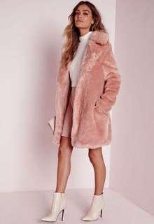 Blush pink coat size small