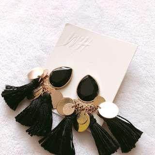 Fiesta Black Earings