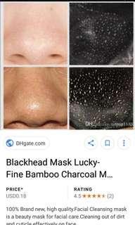 Charcoal blackhead peel acne