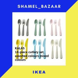 IKEA NEW KALAS Cutlery, mixed colours assorted colours